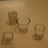Dry Hire Items - Tealights glass $1.50 each to hire with candle