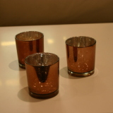 Dry Hire Items - Tealights Bronze $2.50 each with candle